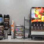 coffee and juice station